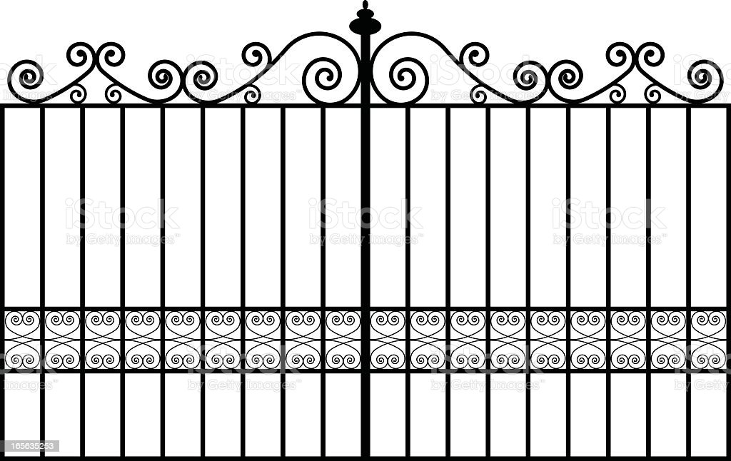 metal gates royalty-free stock vector art