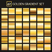 Metal golden gradients collection