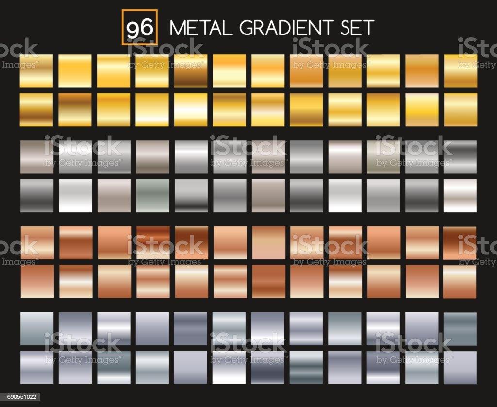 Collection de gradient métal collection de gradient métal vecteurs libres de droits et plus d'images vectorielles de abstrait libre de droits