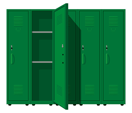 Metal Green Cabinets
