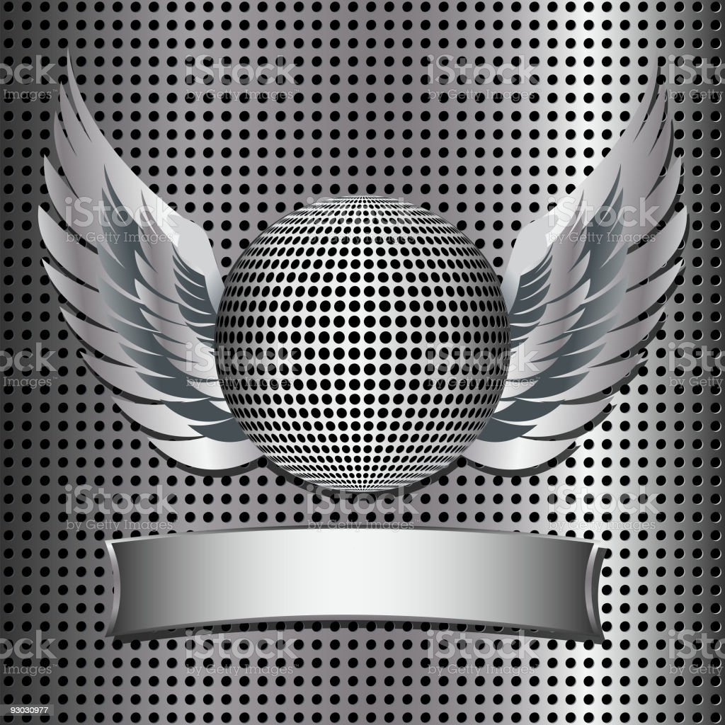 metal grid and disco ball shield royalty-free metal grid and disco ball shield stock vector art & more images of animal wing