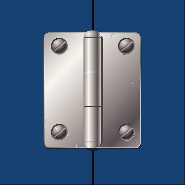 Metal hinges vector art illustration