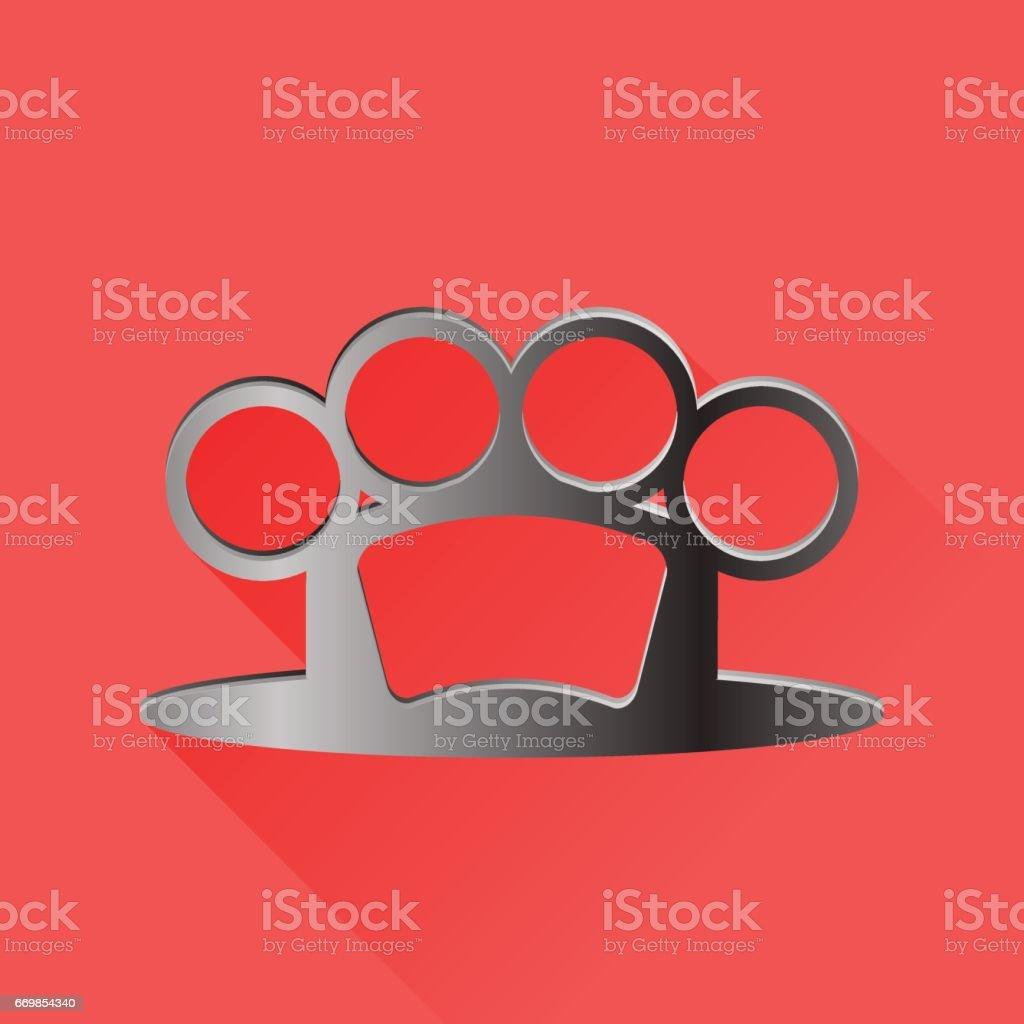 Metal Knuckle Logo vector art illustration