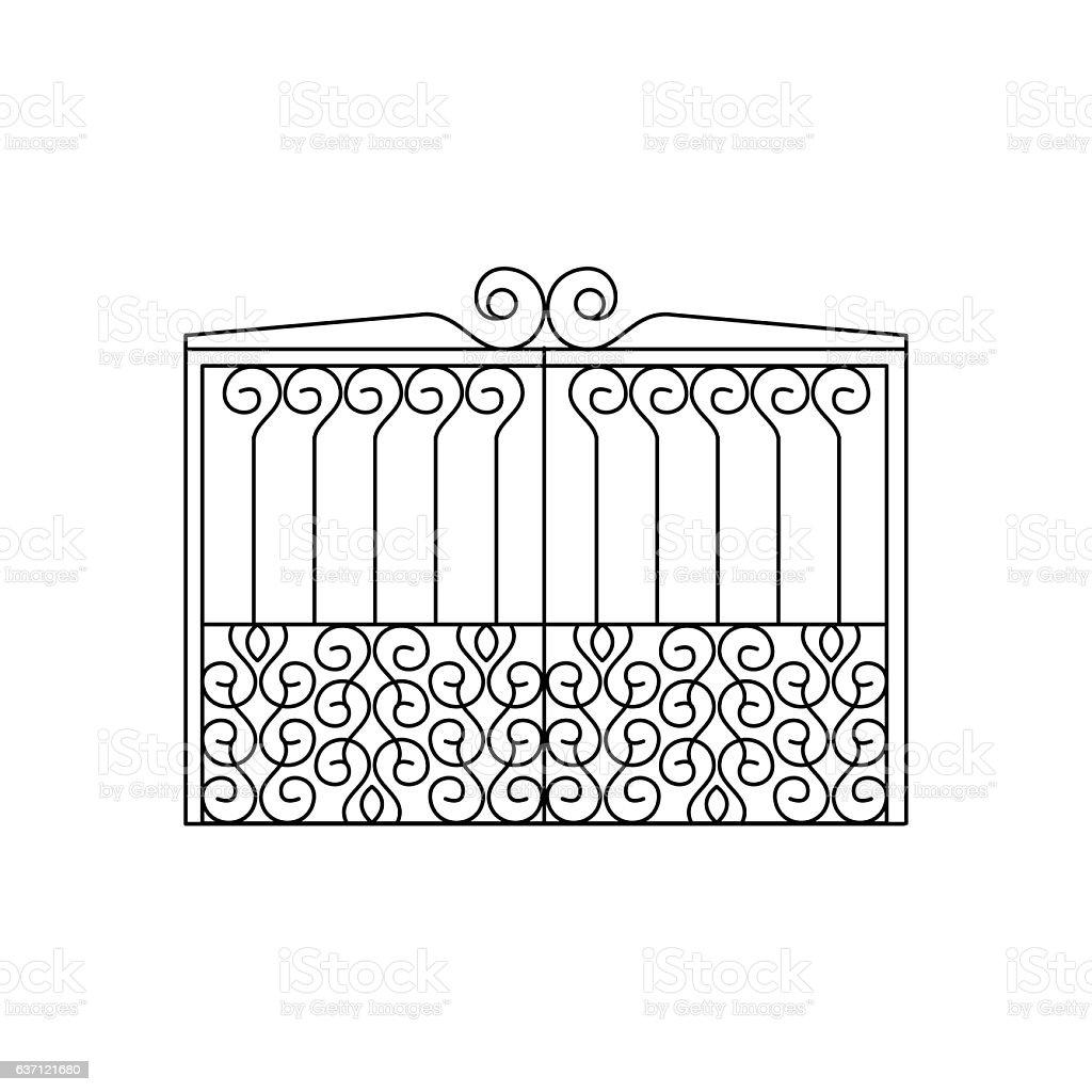 Metal Lattice Fencing Design Stock Vector Art More Images Of