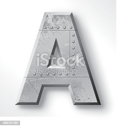 istock Metal Letter A 486261991