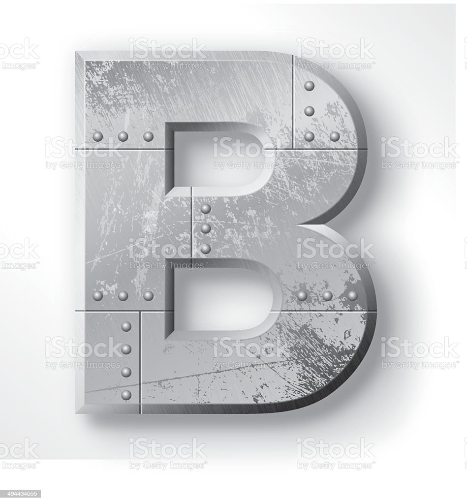 Metal Letter B vector art illustration