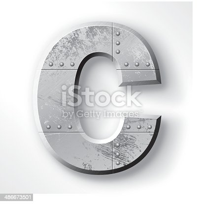 Distressed Metal letter