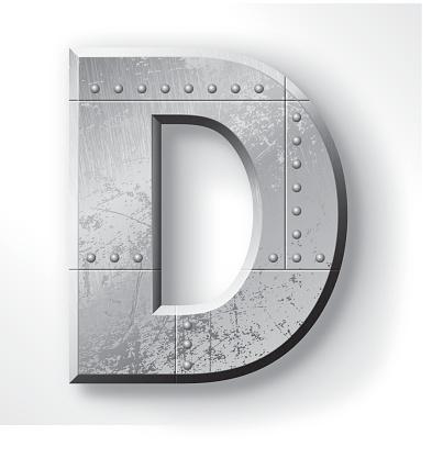 Metal Letter D