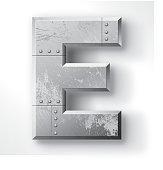 Metal Letter E