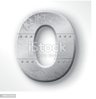 Metal Letter O
