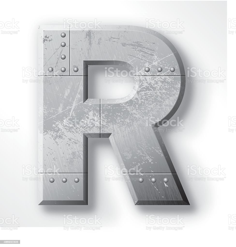 Metal Letter Art Metal Letter R Stock Vector Art 486932305  Istock