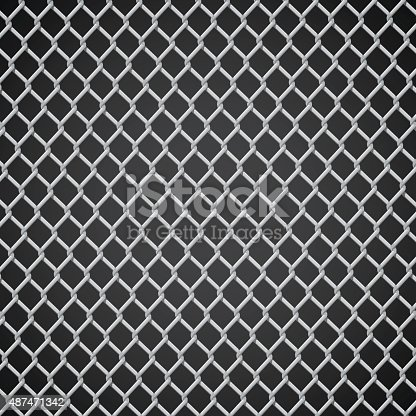 Vector Illustration : Metal net background