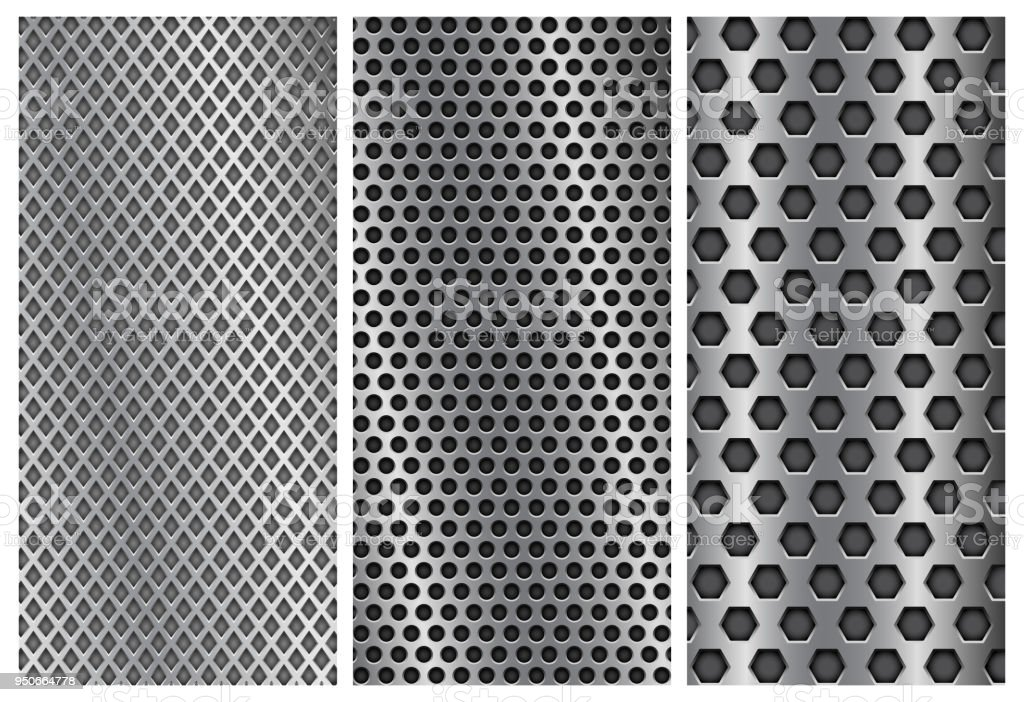 metal perforated backgrounds brochure design templates steel flyer
