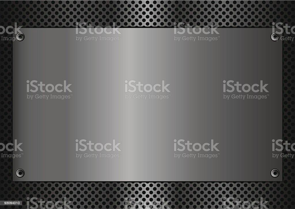 Metal plaque rectangle vector art illustration