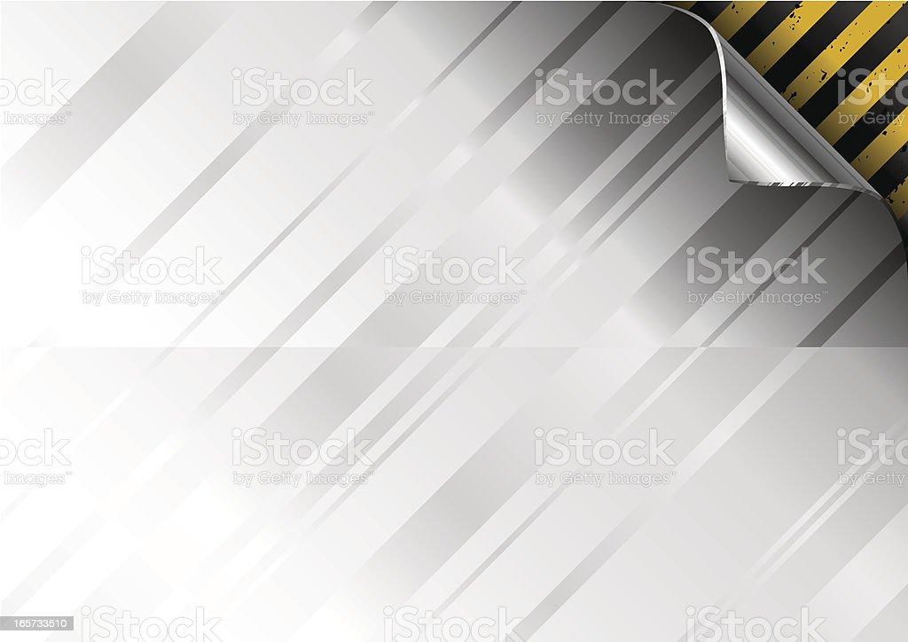 Metal plate corner curl royalty-free stock vector art