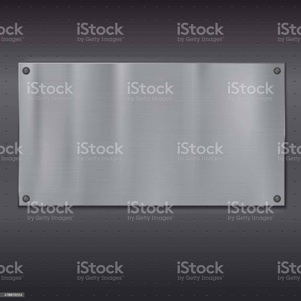 Metal plate over grate texture vector art illustration