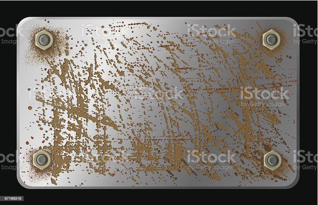 metal plate royalty-free stock vector art