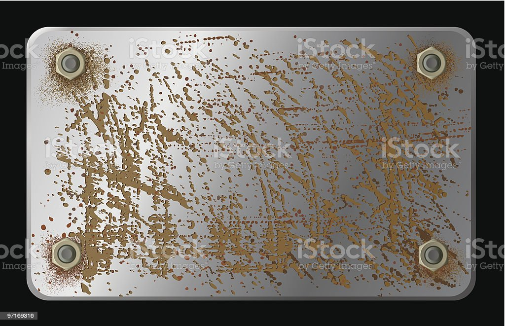 metal plate vector art illustration
