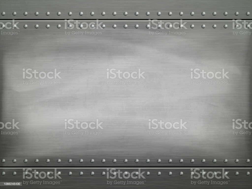 Metal polished plate with scratches. Vector background. royalty-free metal polished plate with scratches vector background stock illustration - download image now