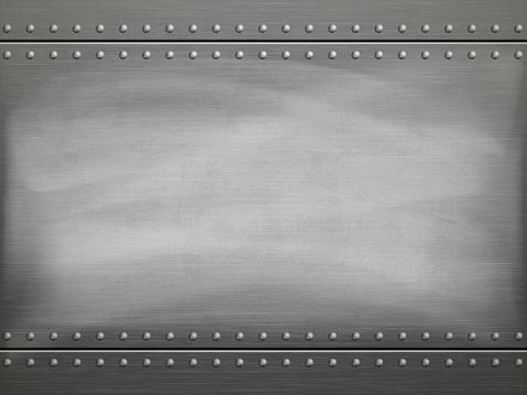 Metal Polished Plate With Scratches Vector Background Stock Illustration - Download Image Now