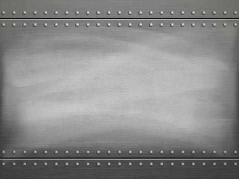 Ilustración de Metal Pulido Placa Con Rasguños Fondo De Vector y más Vectores Libres de Derechos de Acero
