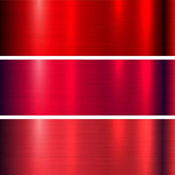 Metal red texture向量藝術插圖