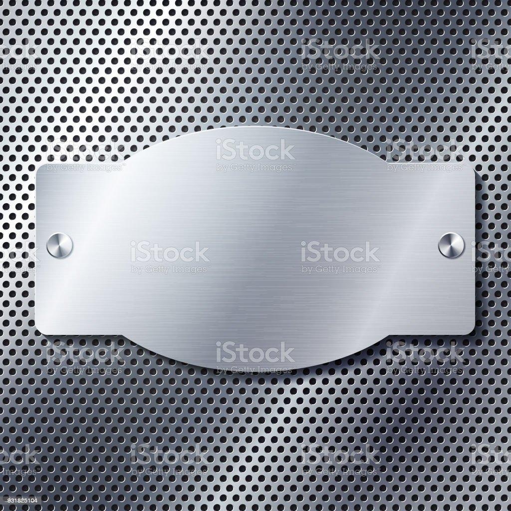 Retrometallrahmen Auf Perforierte Metall Textur Stock Vektor Art und ...