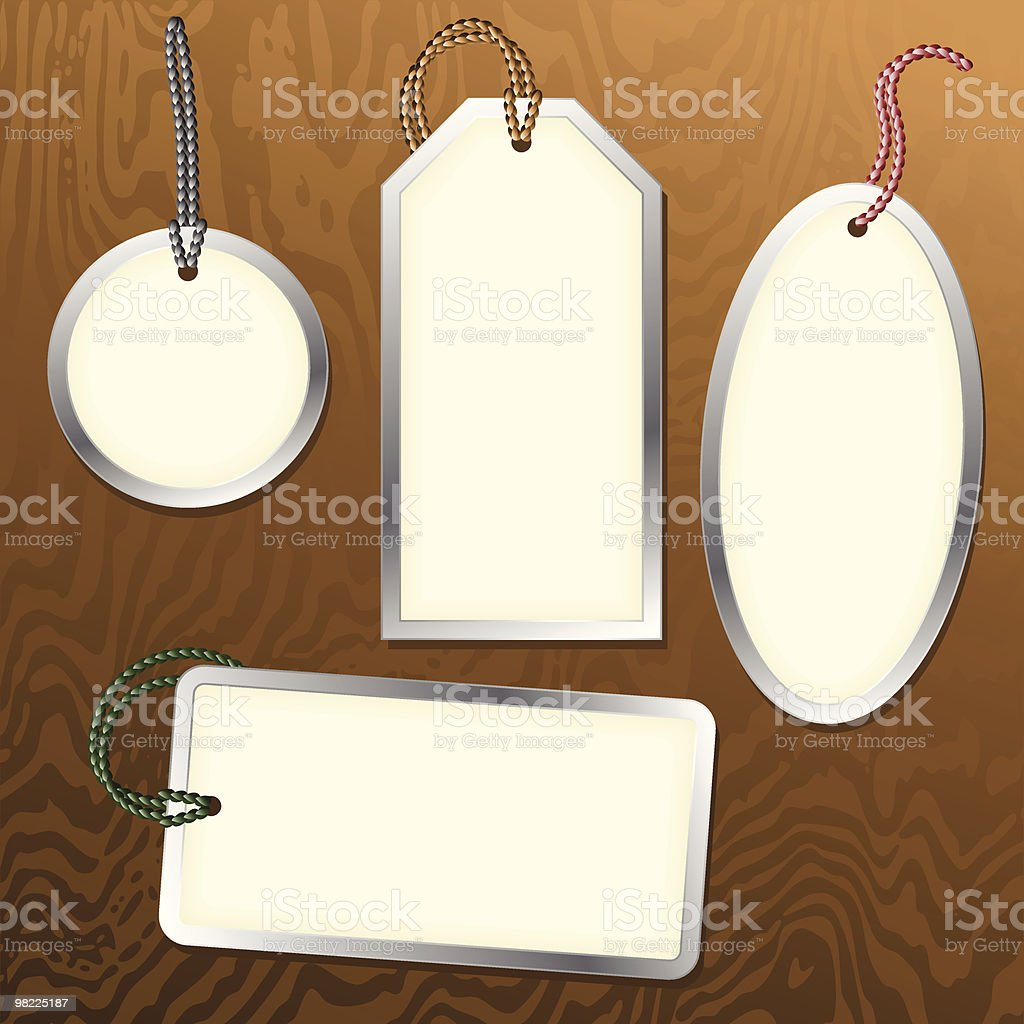 Metal Rimmed Tags royalty-free metal rimmed tags stock vector art & more images of backgrounds