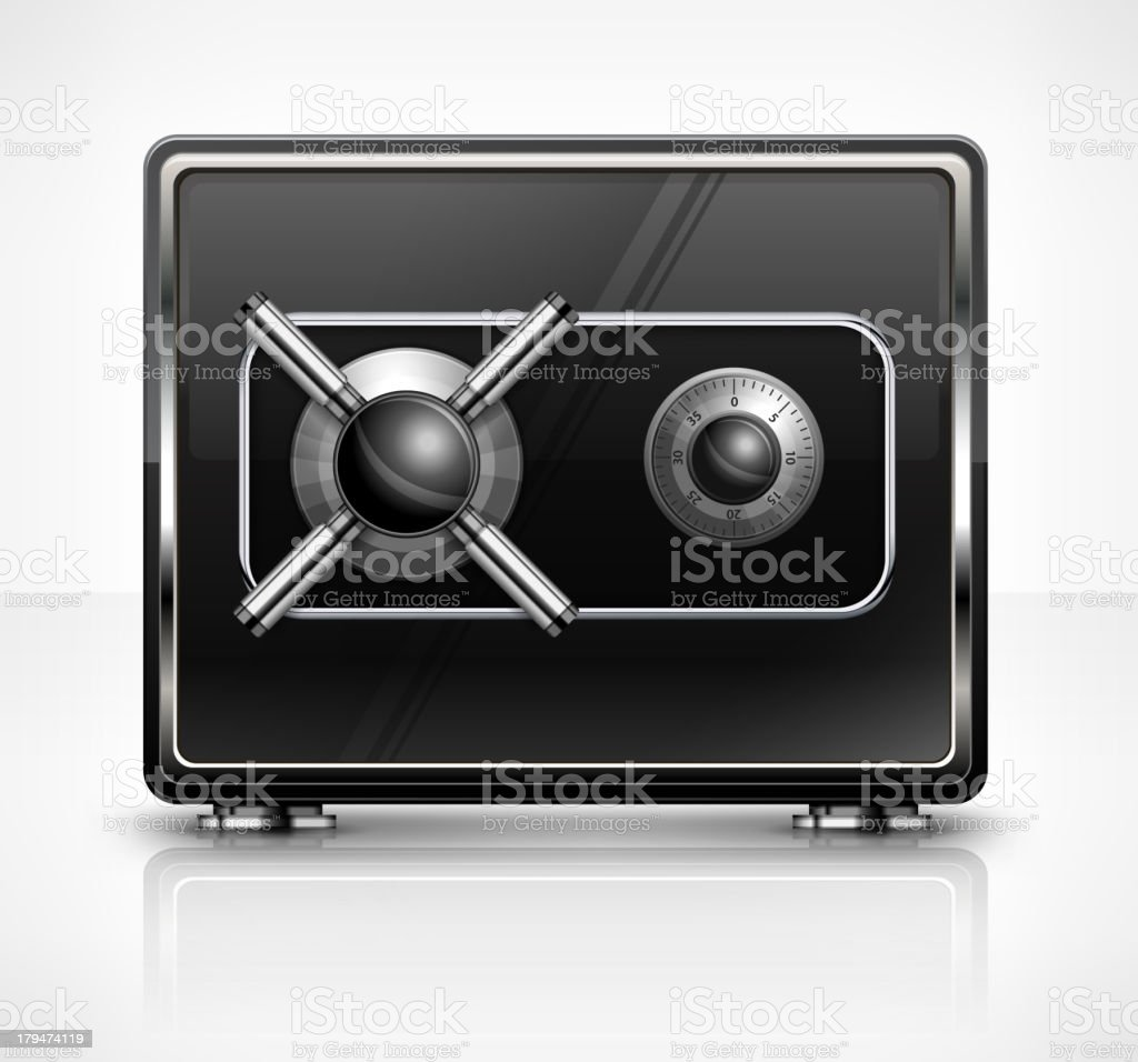 Metal safe on white royalty-free stock vector art