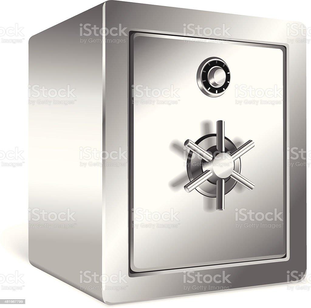 Metal Safe royalty-free stock vector art