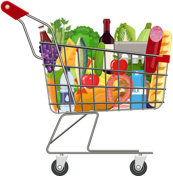 Full Grocery Cart Clipart Royalty Free Ca...