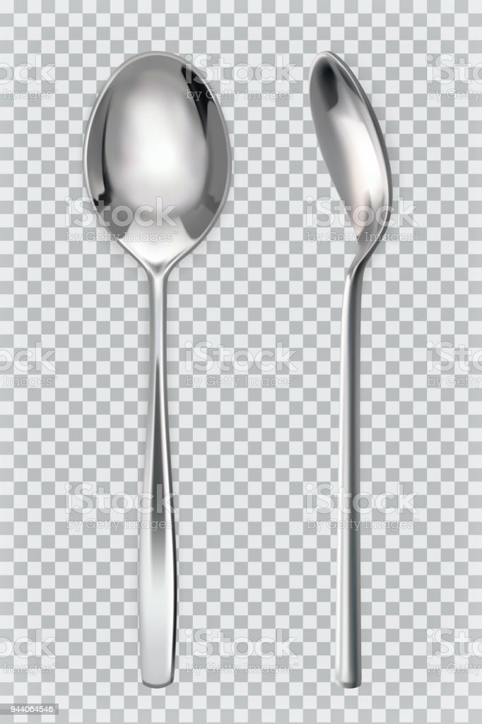 Metal spoons. 3d realism, vector icon royalty-free metal spoons 3d realism vector icon stock vector art & more images of bulgaria