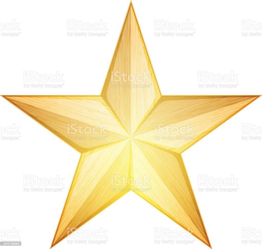 Metall Stern Abbildung - Lizenzfrei Abzeichen Vektorgrafik