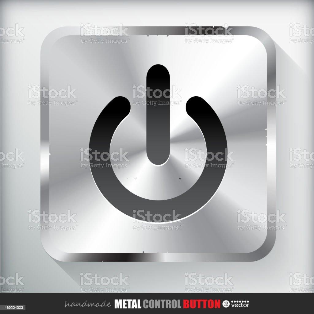 Metal Start Power Button. royalty-free stock vector art