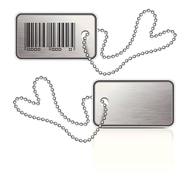metall-anhänger - hundehalsbänder stock-grafiken, -clipart, -cartoons und -symbole