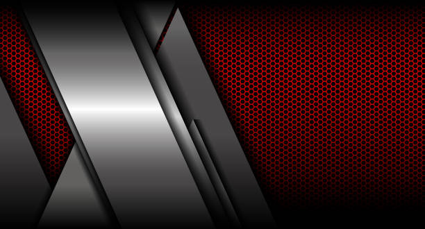 Metall Textur-Hintergrund-Vektor-illustration – Vektorgrafik