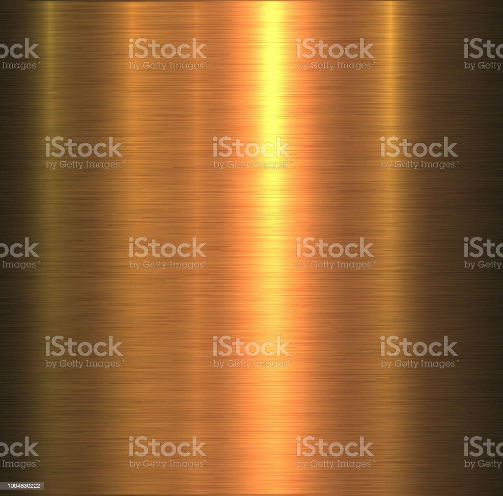 Metal doku altın vektör sanat illüstrasyonu