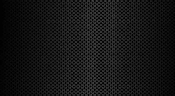 Metal texture in modern style. Metal steel grid. Graphic vector art. Stainless steel. Perforated sheet metal.