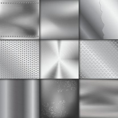 Vetores de Textura De Metal Padrão Fundo Vector Ilustração Metálico Brilhante Efeito De Fundo e mais imagens de Abstrato