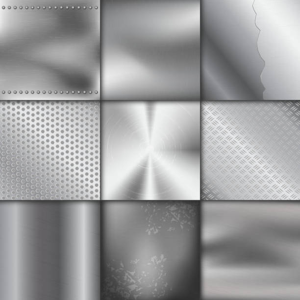 Metallic texture stock illustrations