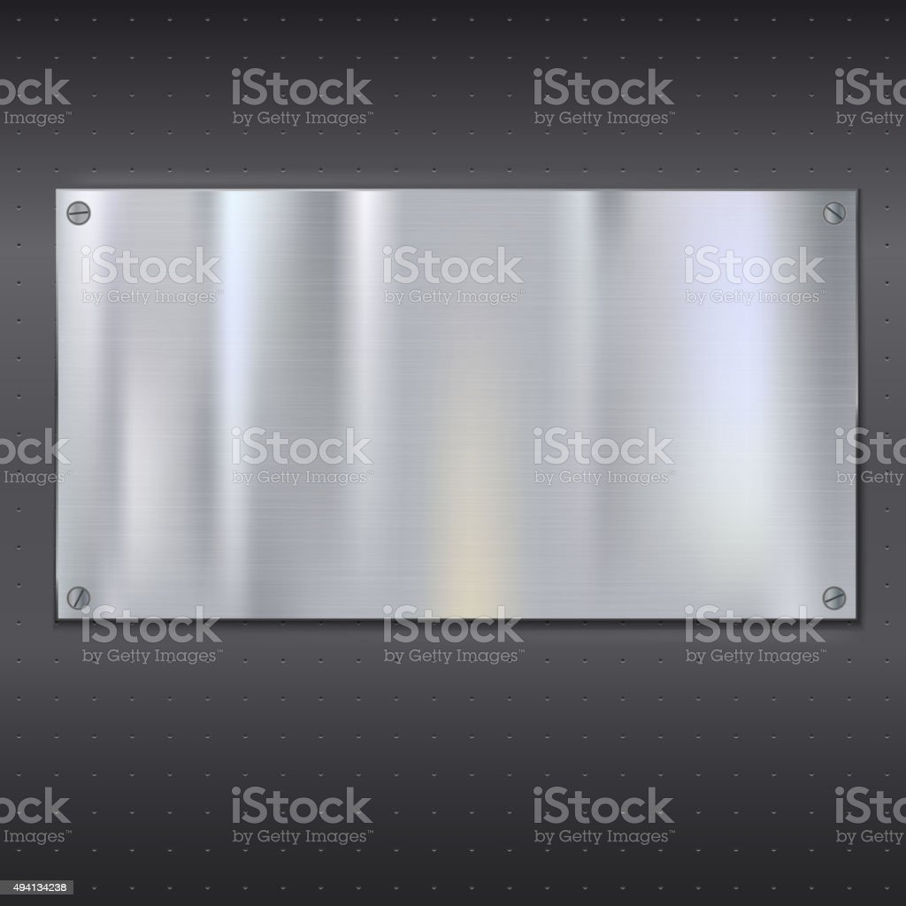 Metal texture plate vector art illustration