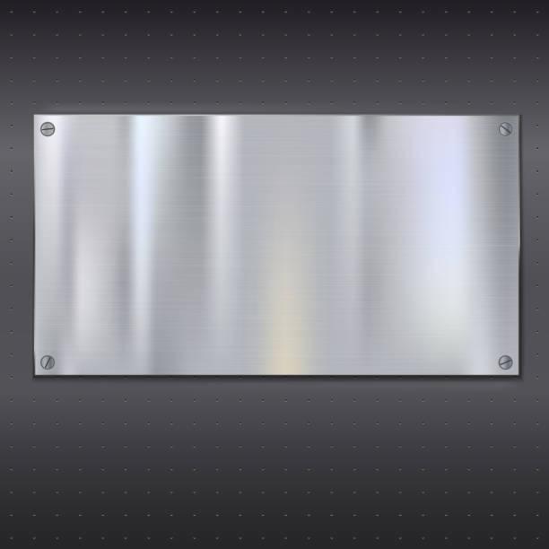 Metal texture plate向量藝術插圖