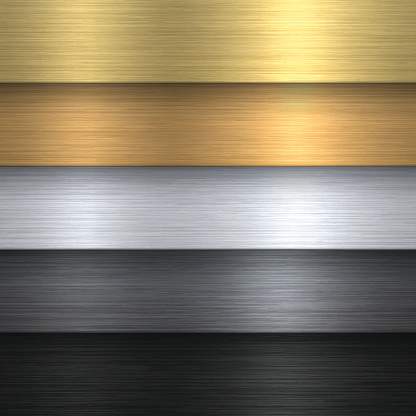 Metal Texture Set can be used for design. With space for text.