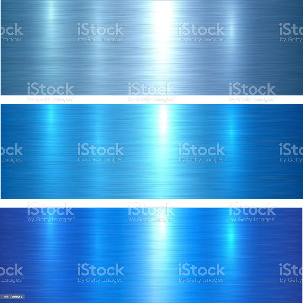 Metal textures blue vector art illustration