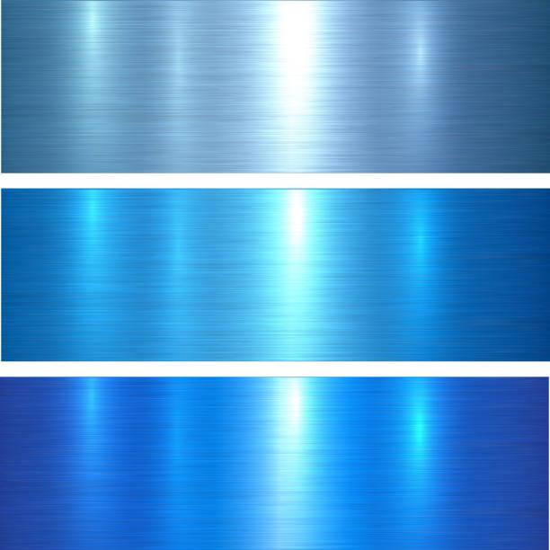 Metal textures blue向量藝術插圖