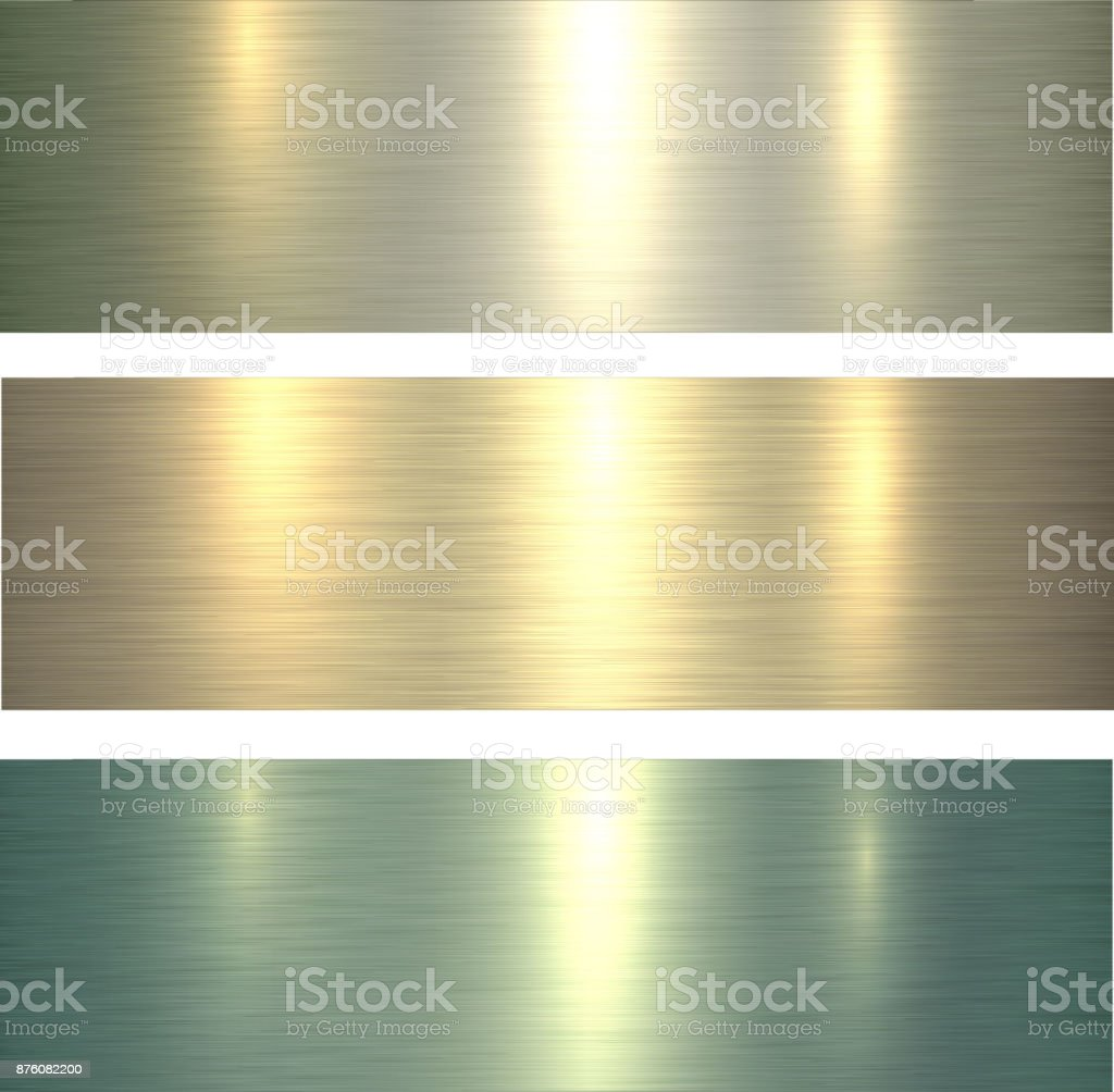 Metal textures light green vector art illustration