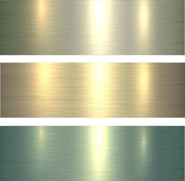 金屬質感淺綠色向量藝術插圖
