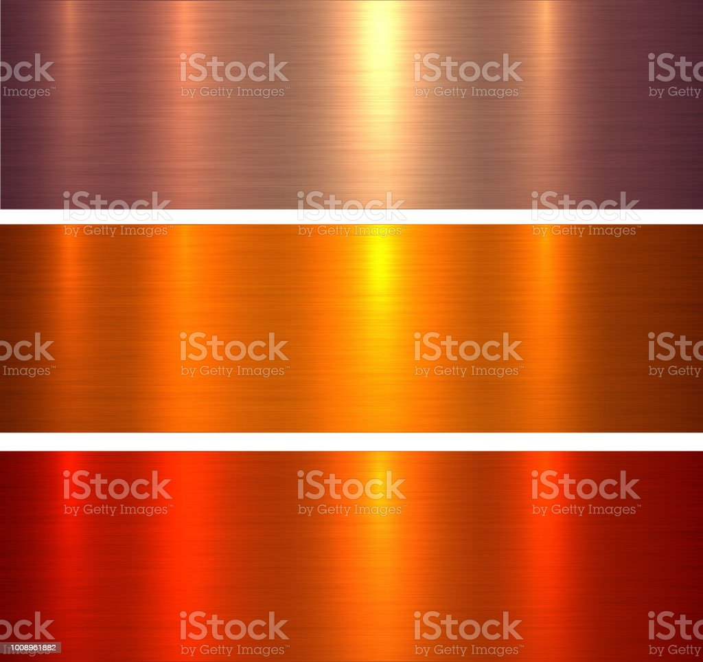 Metal textures orange red vector art illustration