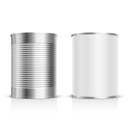 Metal tin set