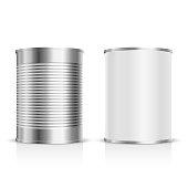 istock Metal tin set 494220792